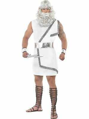 Ancient Greek God Myth Zeus Mens Fancy Dress Costume Party Outfit
