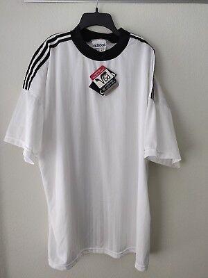a7498e085 Vintage Adidas NWT Deadstock Mens Soccer Futbol Jersey White Sz XL
