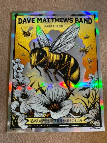 Dave Matthews Band Poster West Valley, UT 8/27/19 Rainbow Foil Variant