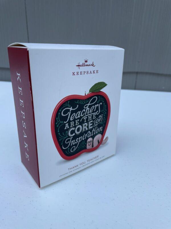 Hallmark: Thank You, Teacher - Keepsake Ornament Made In 2018