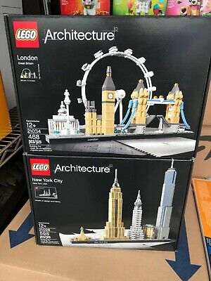 2 LEGO Architecture London 21034 Great Britain England & New York 21028 NEW