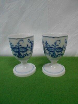 Meissen Porzellan Eierbecher Zwiebelmuster weiß blau vintage 1.Wahl egg cup