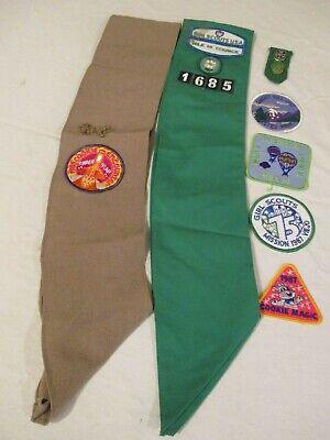 Girl Scout Uniform Sash Vintage 1980
