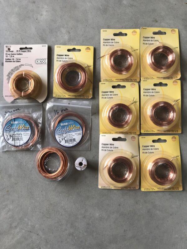 LOT 11 0.7-1.3mm copper Wire Jewelry Making Bead Twisting