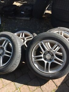 4 summer tires+ rim (5 holes) Aurora 205/60/16, 140$