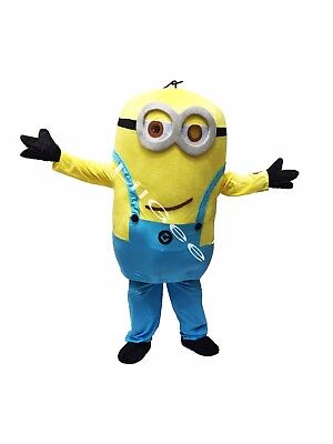 Minions Mascot Costume (Ship From CA Priority Minion Mascot Costume Halloween Adult 2 Eye Despicable Me)