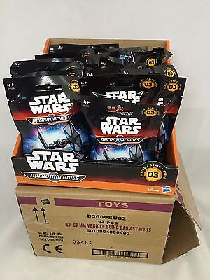 WHOLESALE 24 STAR WARS BLIND BAGS SERIES 3 IN COUNTER DISPLAY BOX MICRO MACHINES