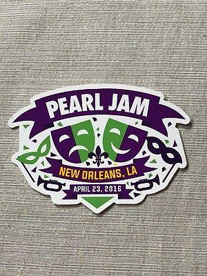 La Jazz Festival - 04/23/16 Pearl Jam New Orleans LA Jazz & Heritage Festival Concert Sticker