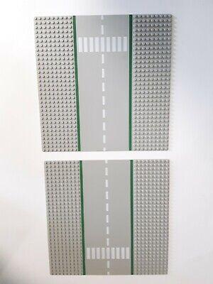2 1980s Lego AG Base Plates. 10x10 Airway Lunar Landing Strip Roadway Vintage