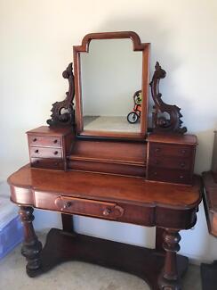 Victorian Mahogany Dressing Table C 1870