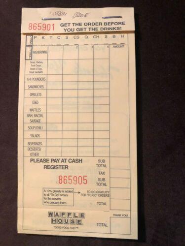 Waffle House blank checks