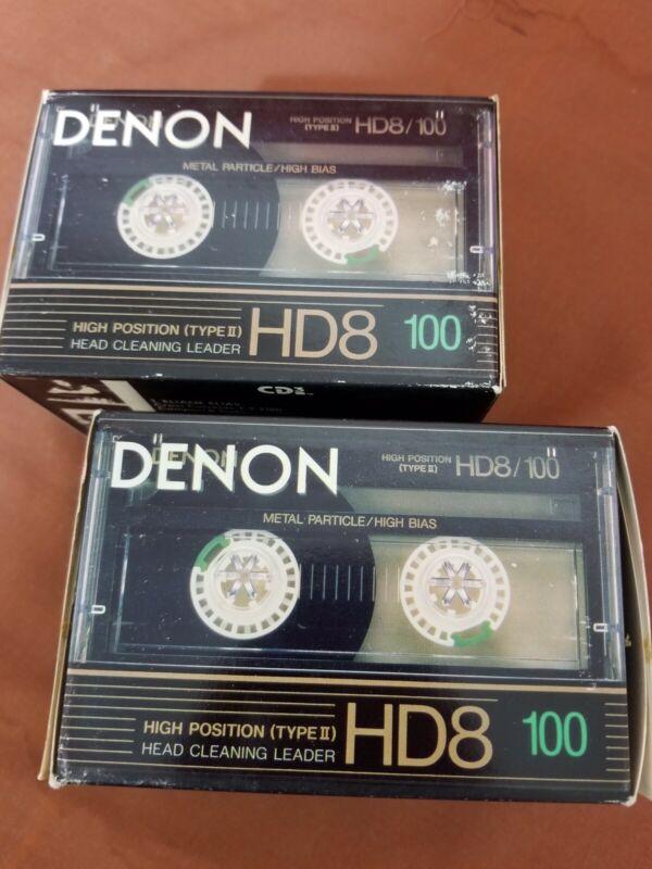 Box Of 10 Denon HD8-100 Audio Metal Cassette Tapes Vintage NOS