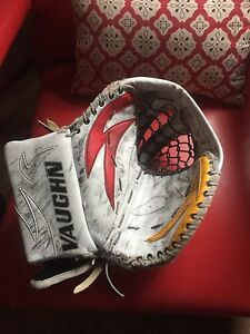 Senior vaughn goalie glove and blocker