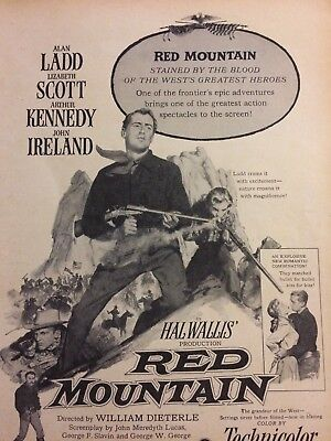 Red Mountain, Alan Ladd, Lizabeth Scott, Full Page Vintage Promotional Ad