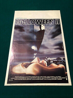JOHN CARPENTER HALLOWEEN II 2 ORIGINAL BELGIUM MOVIE POSTER MICHAEL MYERS MASK