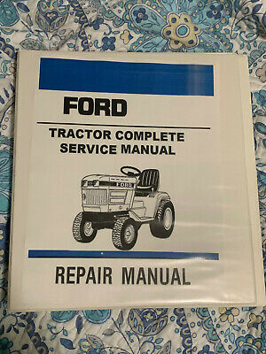 Ford 100 120 125 145 165 195 Lawn Garden Tractor Service Manual Workshop Binder
