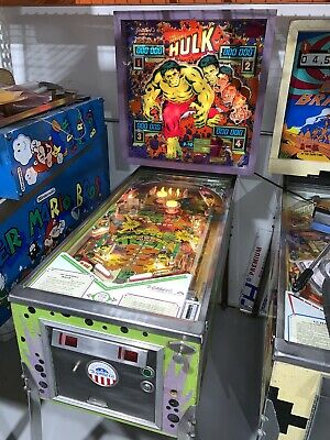 The Incredible Hulk By Gottlieb 1979 Original Pinball Machine Free Shipping
