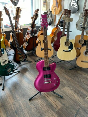 Daisy Rock Rock Candy Electric Guitar in Atomic Pink (with Custom Hardcase)