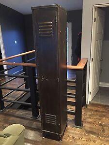 Vintage 1920's steel locker
