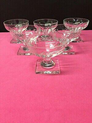 6 coupes à champagne en cristal GONDOLE cotes plates. H:80 mm Val Saint Lambert
