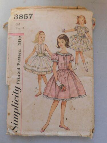 2 Antique/Vintage Girls Dress Patterns~ Simplicity #4061 & Simplicity 3857