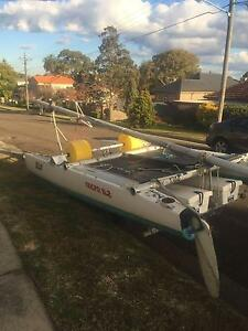 Nacra 5.2 inc. Trailer, Beach Wheels and Gearbox Drummoyne Canada Bay Area Preview