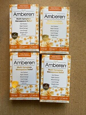 Amberen Menopause Relief Hormonal Balance 60 X 4 (240 Caps )Lot of 4 Exp 2023