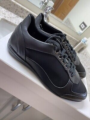 Versace Black suede Shoes Mens NEW Size 42