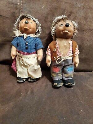 Vintage Steiff Hedgehogs Dolls Micki and Macki Germany 7