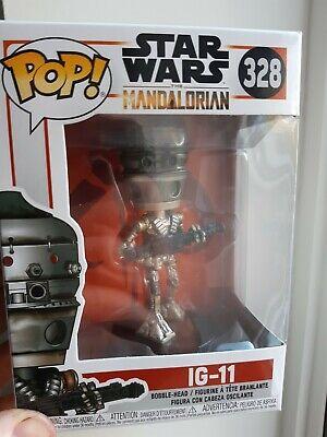 "STAR WARS THE MANDALORIAN IG-11 3.75"" POP VINYL FIGURE FUNKO 328"