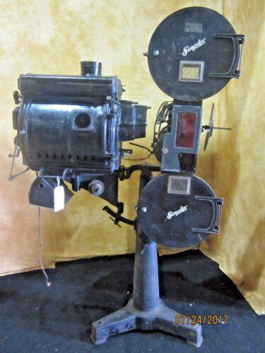 Simplex Standard Silent 35mm Cine Projector W/ Brenkert Li Carbon Lamp House