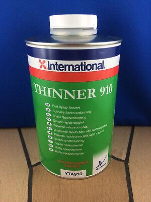 1L International Verdünner 910 Thinner 910  Schnelle Spritzverdünnung