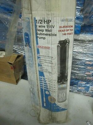 New Burcam 12 Hp 2 Wire 115v Deep Well Submersible Pump 105335st 10 Gpm