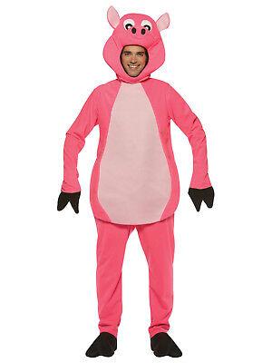PINK PIG ADULT Costume HALLOWEEN MENS WOMENS FARM ANIMAL NEW ](Women's Pig Costume)