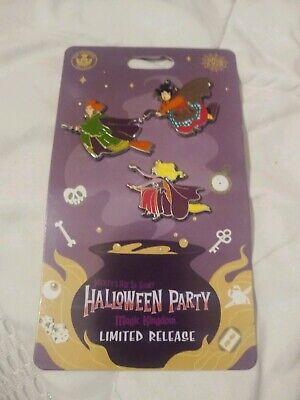 Disney Not So Scary Halloween Party (Disney 2019 Not So Scary Halloween Party Hocus Pocus 3 Pin Set Limited NEW)