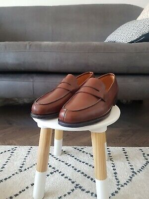 Mens JOHN LOBB CAMPUS Tan Leather Loafer Shoes, Size 11E, NEW, RRP £895