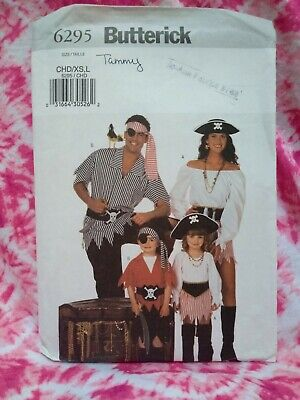 Pirate Costumes For Family (TWO Butterick patterns # 6295, Pirates costumes for the whole)