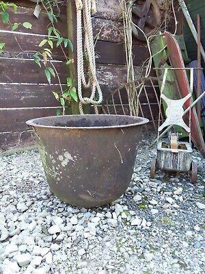 Vintage Cast Iron Boiling Pot Garden Eater Feature / Pond