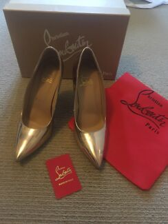 Rose Gold Christian Louboutin Heels Shoes - Size 40
