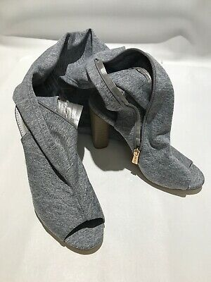 Cape Robbin 9 Thigh High Open Toe Sock Boots Sandal Connie-1 Light Heather Gray (Open Toe Thigh High Socks)