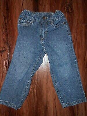 WRANGLER BLUE Denim Jeans Boys Size 3T Toddler ADJUSTABLE WAIST