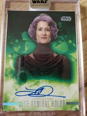 2019 topps Star Wars Stellar Signatures Autograph Laura Dern Vice Admiral Holdo