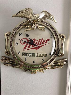 vintage miller high life clock