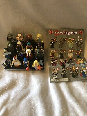 LEGO MINIFIGURES  SERIES 9 COMPLETE SET OF 16 FIGURES 71000