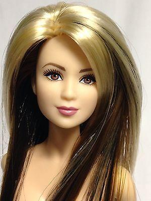 Nude Collector Edition Barbie Doll OOAK Reroot Lea Face Model Muse Blonde Black