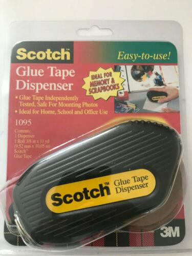 "Scotch Glue Tape Dispenser #1095 by 3M 3/8"" x 11 Yards Adhesive Craft NEW"