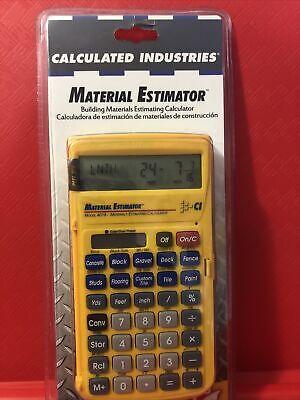 Material Estimator Calculatorindustries Construction Calculatorhand Tool