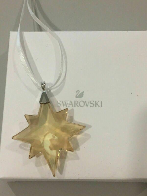 New in Box Swarovski Mini Golden Star Ornament Promotional Item 2019 #5498200