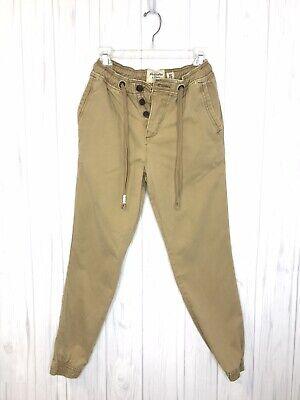 Abercrombie & Fitch Jogger Pants Khaki Tan Men's SZ XS