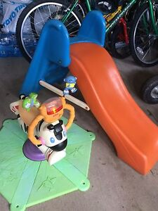Toddler's Little tikes slide and ride on toy